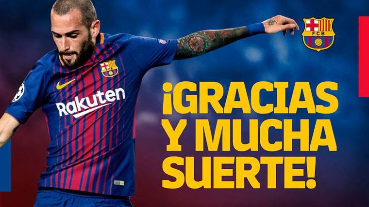 OFICIAL: El FC Barcelona traspasa a Aleix Vidal al Sevilla