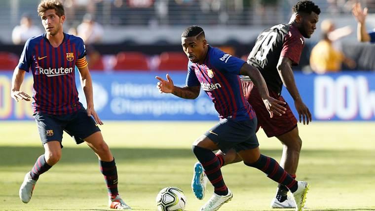 Malcom Filipe, durante un partido con el FC Barcelona