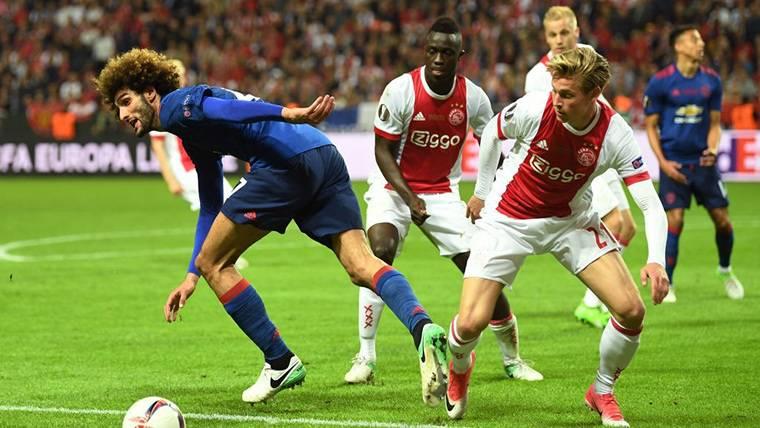 Frenkie De Jong, durante un encuentro contra el Manchester United
