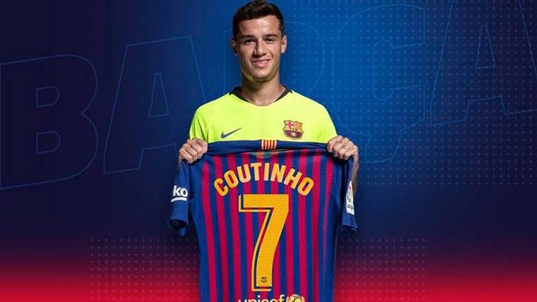 Coutinho cambia de dorsal y se queda con el '7' del Barcelona