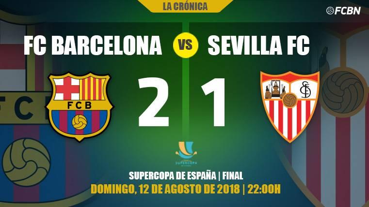 El Barça remonta y gana la Supercopa de España con un golazo de Dembélé (2-1)