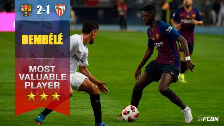 Ousmane Dembélé se reivindica con su primer partidazo en el Barça