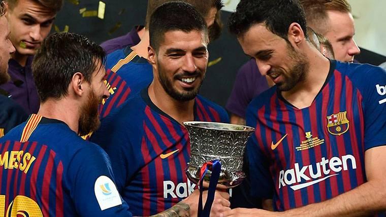 Las reacciones de los jugadores del Barça tras ganar la Supercopa