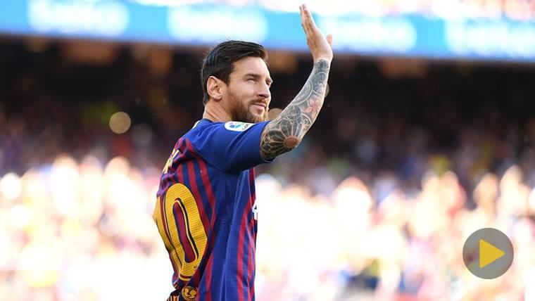 Vaselina de Messi y primer gol de su carrera a Boca Juniors