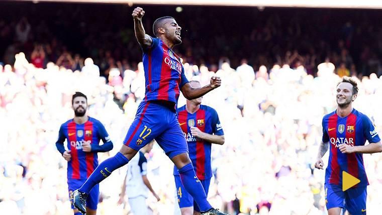 Rafinha, 'on fire': Sombrero al portero y gol que sabe a Barça