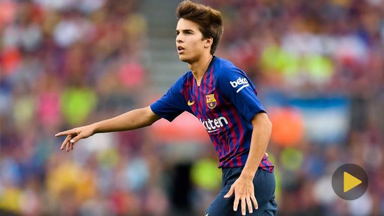 Riqui Puig se estrena en el Camp Nou ilusionando a los culés con varios detalles de calidad