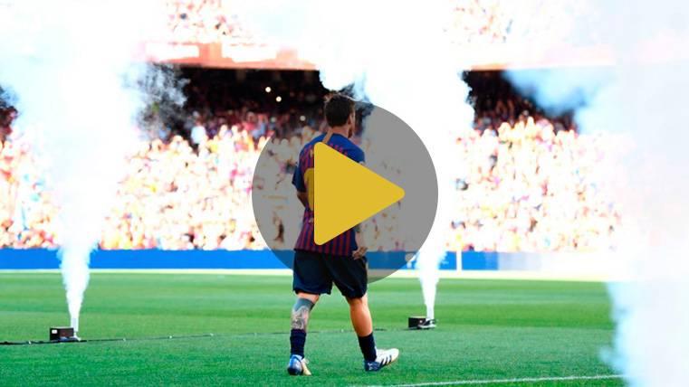 Así fue la fiesta de presentación del Barça 2018-19 en el Trofeo Joan Gamper