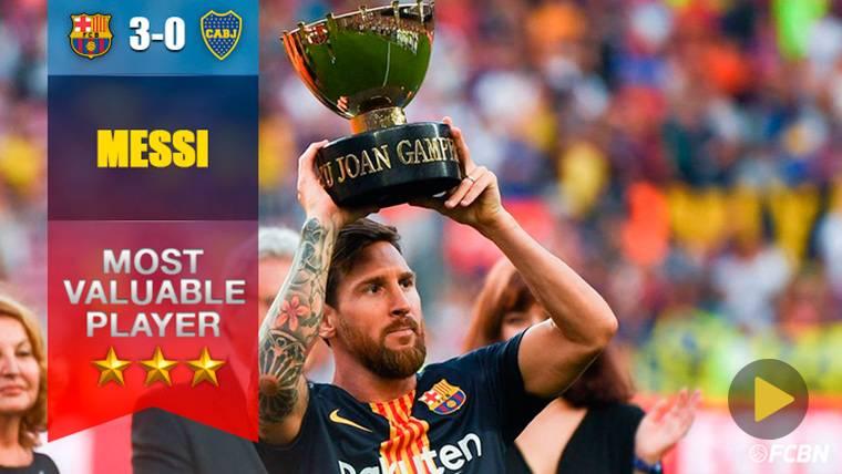 Messi, 'MVP' y 'Pichichi' histórico del Trofeo Joan Gamper