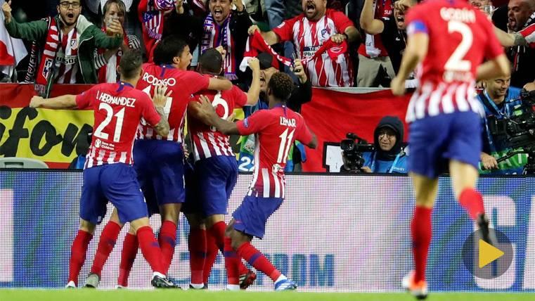 Diego Costa estrenó el Real Madrid-Atlético con un golazo