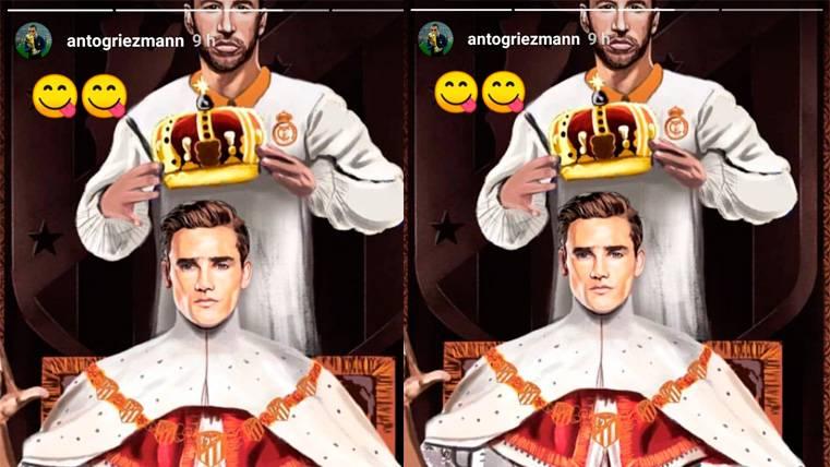 Griezmann se burla de Sergio Ramos tras la Supercopa y calienta al madridismo