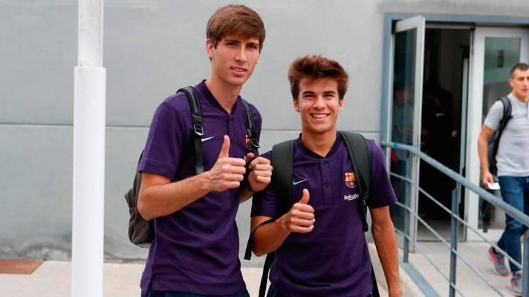 Las ilusionadas palabras de Juan Miranda y Riqui Puig tras su debut en el Camp Nou