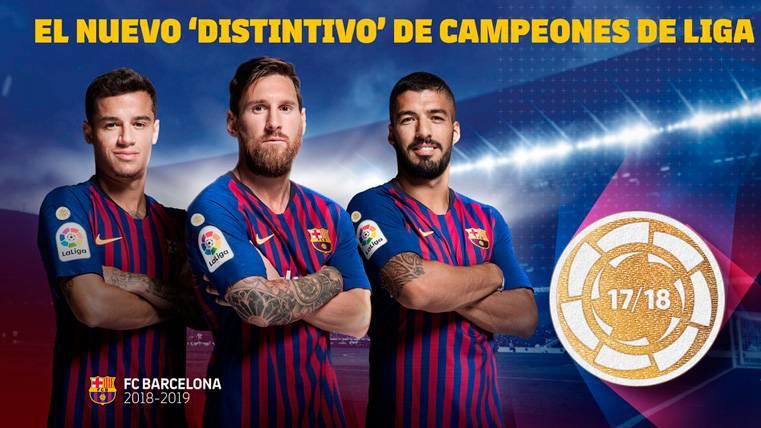 El FC Barcelona estrenará un distintivo de campeón de LaLiga en su camiseta 2018-19