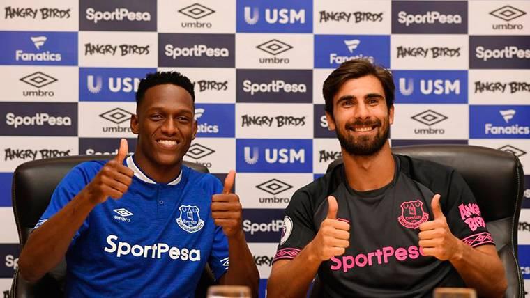 Yerry Mina y André Gomes se quedan sin jugar con el Everton
