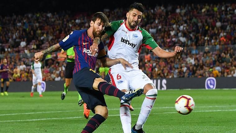 Al Barça le faltó puntería: ¡Palazo de Messi y ocasiones claras de Dembélé y Suárez!