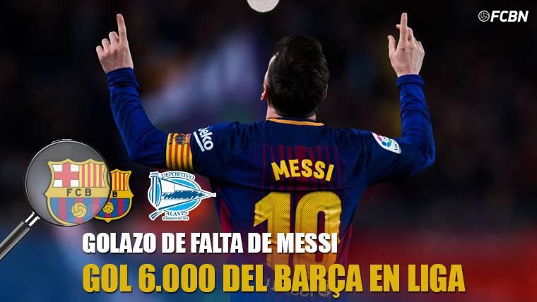 ¡Genialidad de Messi para el gol 6.000 del Barcelona en LaLiga!