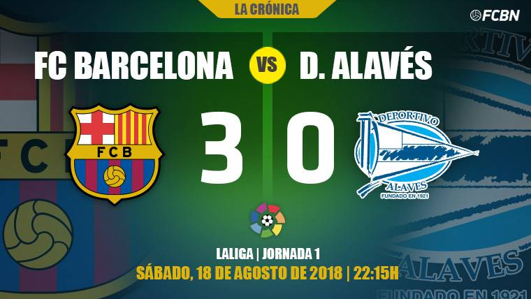 Messi y Coutinho guían al Barça hacia la victoria en el estreno liguero ante el Alavés (3-0)