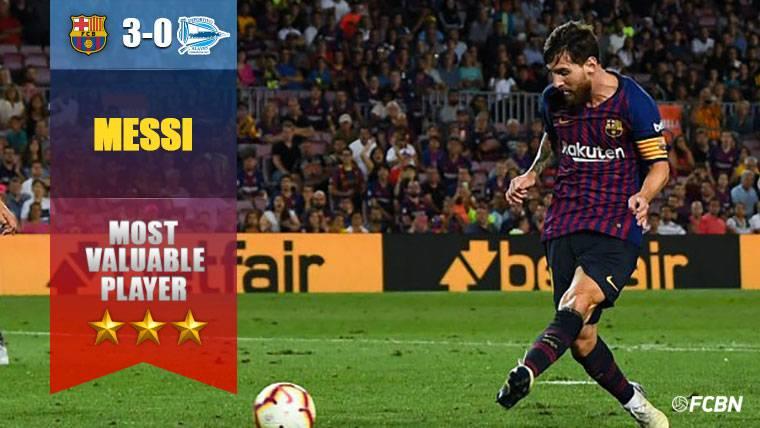 Leo Messi volvió a aparecer cuando el partido se complicaba