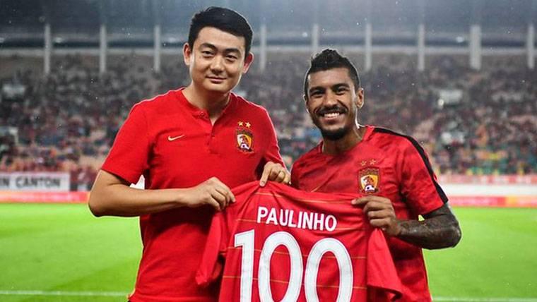 Paulinho sigue 'on fire': Doblete durante su centenario en China