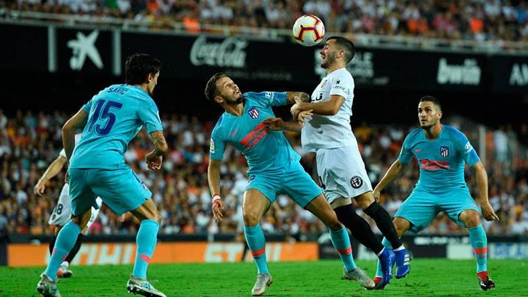 El Atlético de Madrid no puede con el Valencia en Mestalla (1-1)