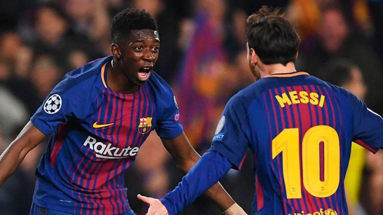 Dembélé y Messi se empiezan a entender