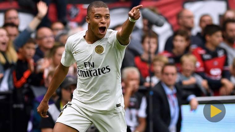 Kylian Mbappé 'copia' un gol de Ronaldinho con el PSG