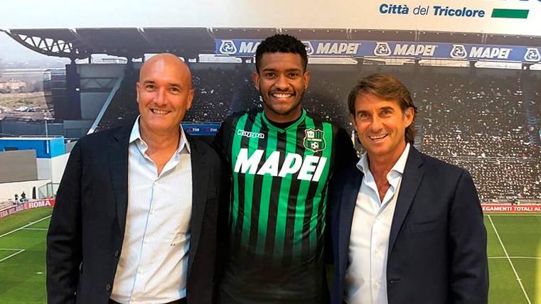 Marlon se acuerda del Barça, de Piqué y de Umtiti en su presentación con el Sassuolo