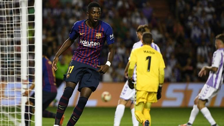 Dembélé se pone la capa de goleador contra el Valladolid