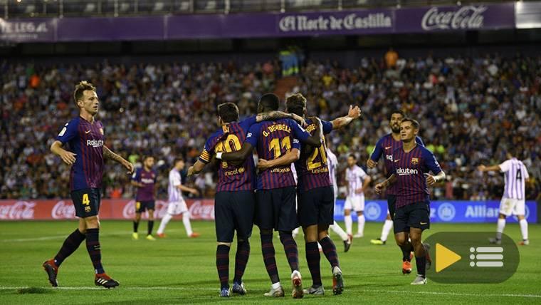 Vídeo resumen: Real Valladolid 0 FC Barcelona 1 (LaLiga J2)