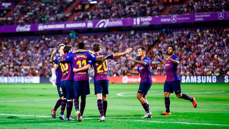 La reacción del vestuario del Barça tras la aparición salvadora del VAR en Valladolid