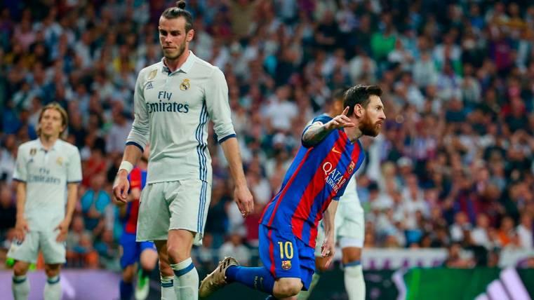 Bale se la jugó con un lanzamiento de falta como Messi, pero no tuvo éxito