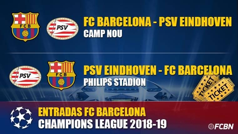 Entradas FC Barcelona vs PSV Eindhoven - Champions League
