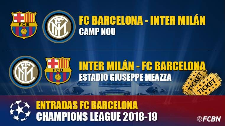 Entradas FC Barcelona vs Inter Milan - Champions League