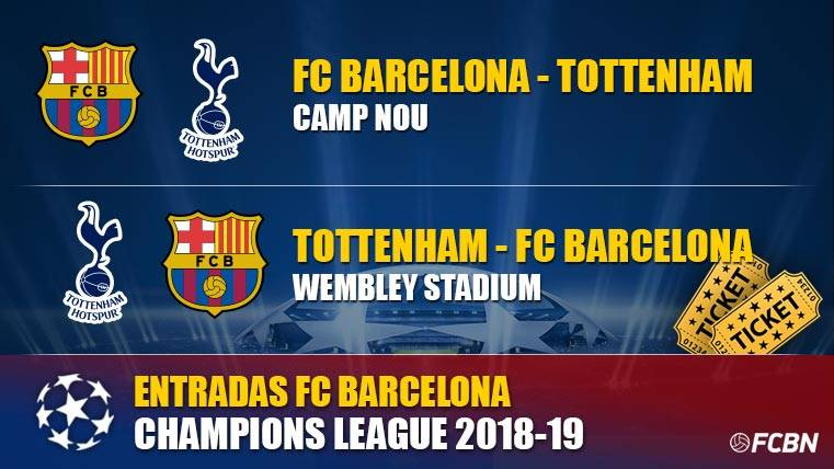 Entradas FC Barcelona vs Tottenham - Champions League