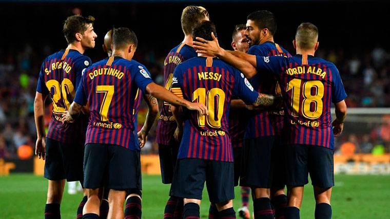 El Barça remontó con un gol en propia meta de Pulido a centro de Jordi Alba
