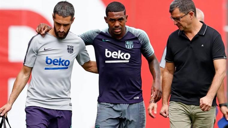 LESIÓN: Continúa la plaga de lesiones en el Barça: Malcom, esguince leve de tobillo