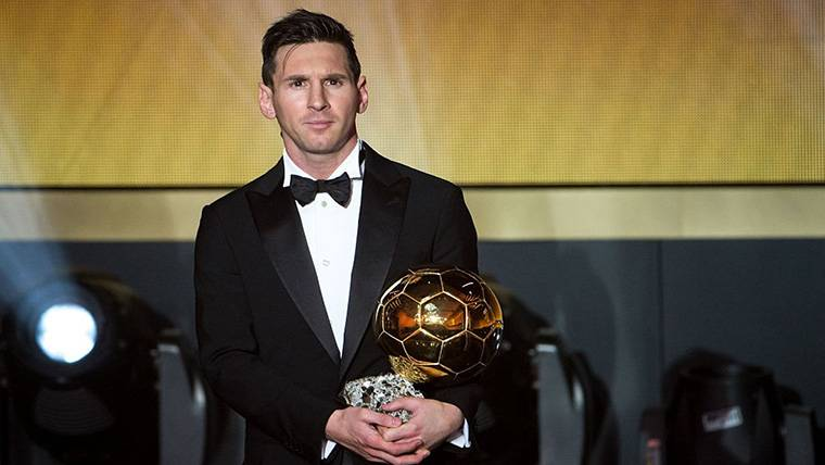Adiós a la genial racha de Messi en el podio a Mejor Jugador