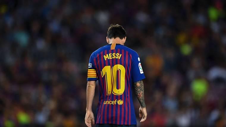 'Tweet' del Barça denunciando la ausencia de Messi en el The Best