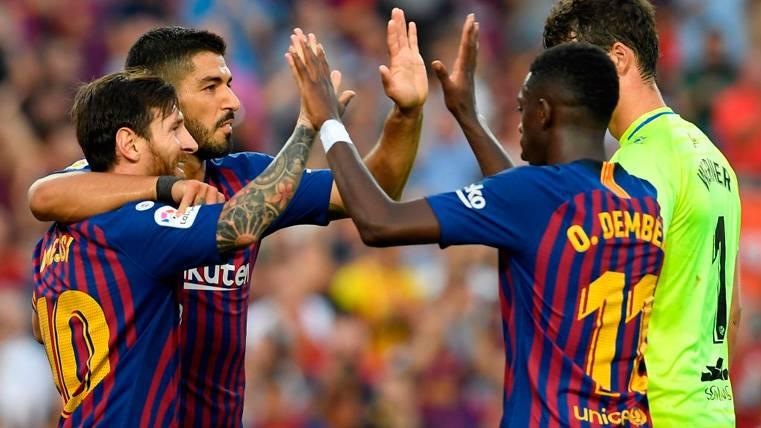 El nuevo tridente del Barcelona ya se ha marcado un objetivo