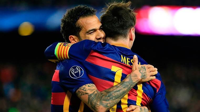Dani Alves se acuerda de Leo Messi con un cariñoso mensaje en las redes sociales