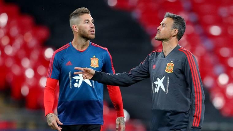 Sergio Ramos despeja cualquier polémica con Luis Enrique