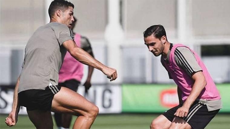 Cristiano Ronaldo, durante un entrenamiento con la Juventus
