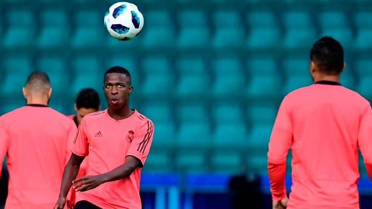 Vinicius Junior en un entrenamiento del Real Madrid