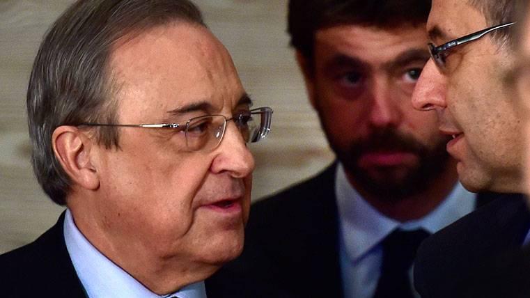 Florentino Pérez y Josep Maria Bartomeu en una imagen de archivo
