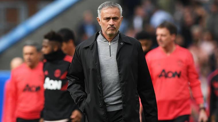 José Mourinho, durante un encuentro del Manchester United