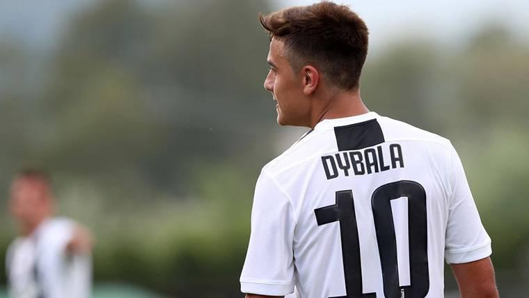 Paulo Dybala, durante un amistoso con la Juventus de Turín