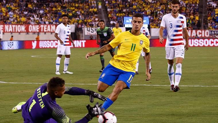Coutinho piropea a uno de los objetivos del Barça en Brasil