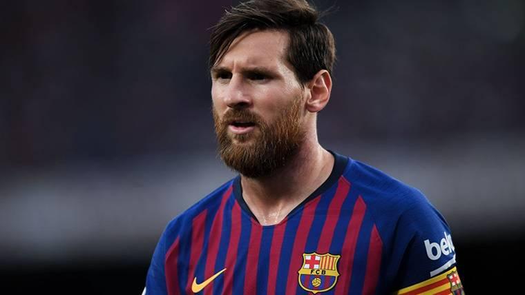 Leo Messi, durante un partido con el Barça este curso