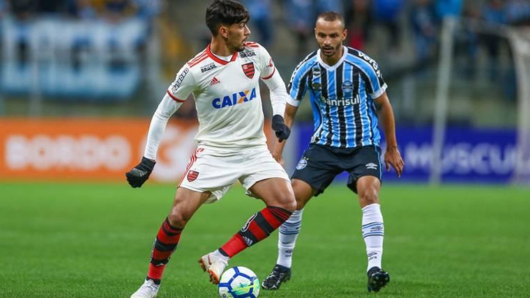 Lucas Paquetá, durante un partido con el Flamengo