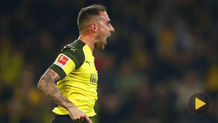 Paco Alcácer se estrena con el Borussia marcando un golazo