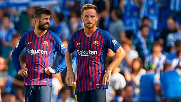Posible penalti a Piqué que el VAR anuló en el Real Sociedad-Barça